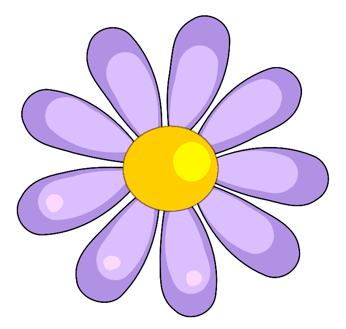 700x667 Purple Flower Clipart Pretty Flower