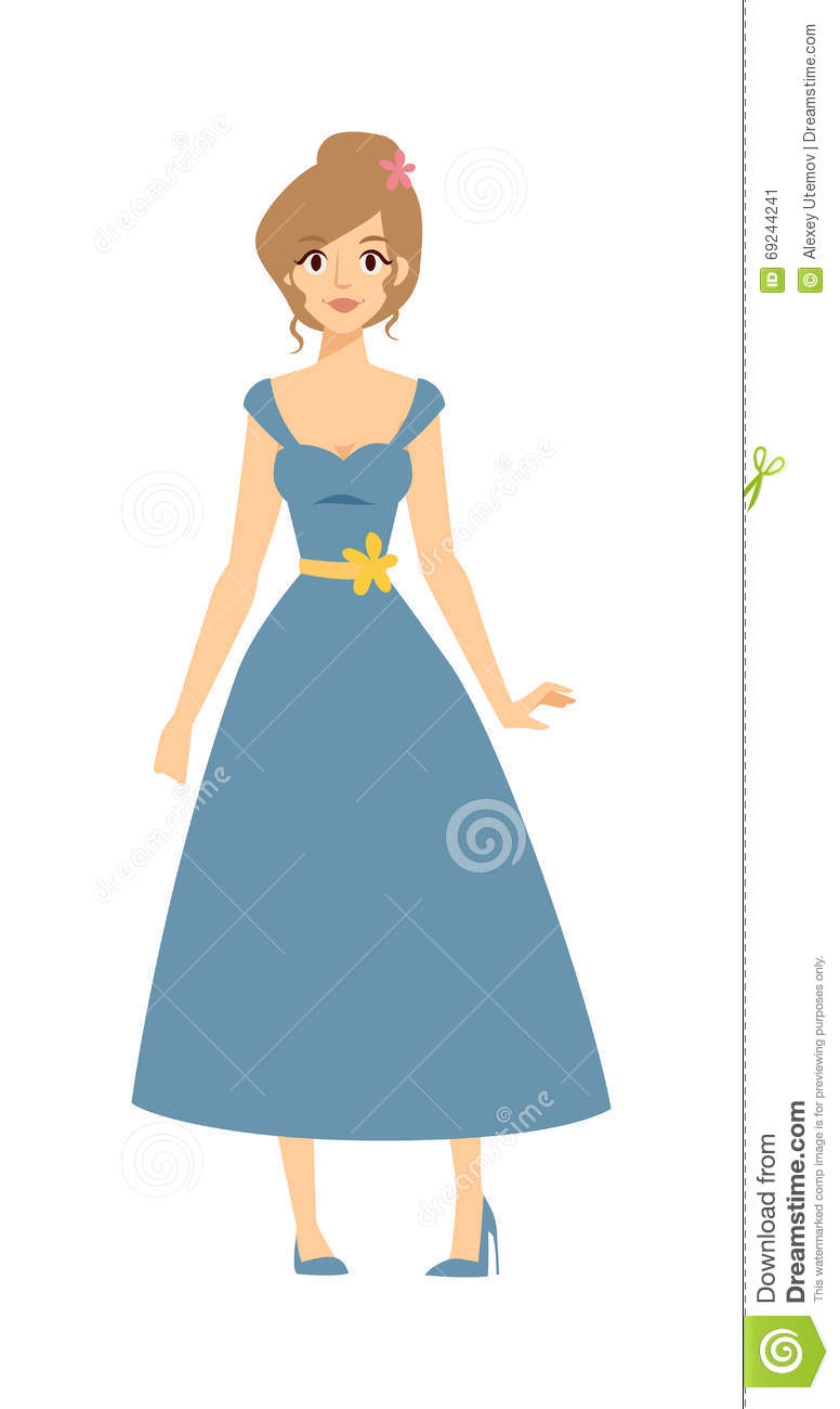776x1300 Blue Dress Clipart Pretty Dress
