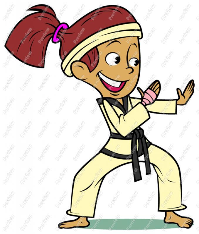 678x800 Karate Girl Child Clip Art