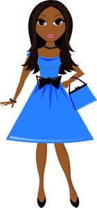 140x300 Pretty Girl Clipart Image