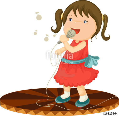 500x487 Little Girl Singing Stock Image And Royalty Free Vector Files