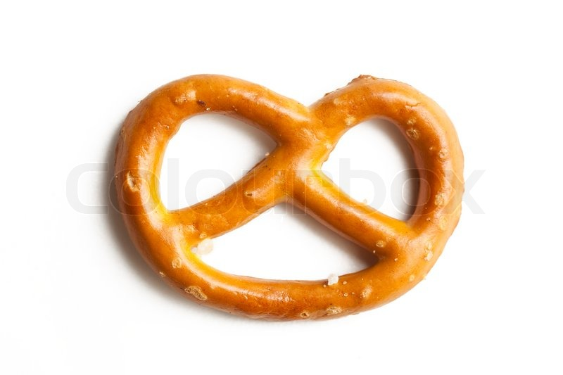 800x533 Photo Shot Of Pretzel On White Background Stock Photo Colourbox