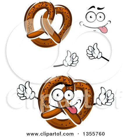 450x470 Royalty Free (Rf) Soft Pretzel Character Clipart, Illustrations