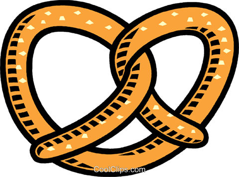 480x356 Pretzel Royalty Free Vector Clip Art Illustration Vc009985