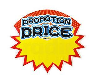 300x269 Pack Of 10 Retail Shop Promo Signs Promotion Price Sale