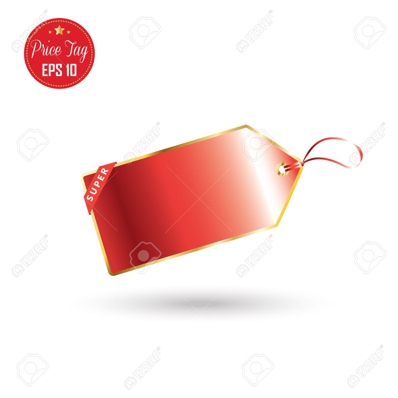 1300x1300 Price Tag. Price Tag Label, Icon, Logo. Red Price Tag Isolated