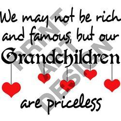 250x250 Grandchildren Are Priceless Print Art Design