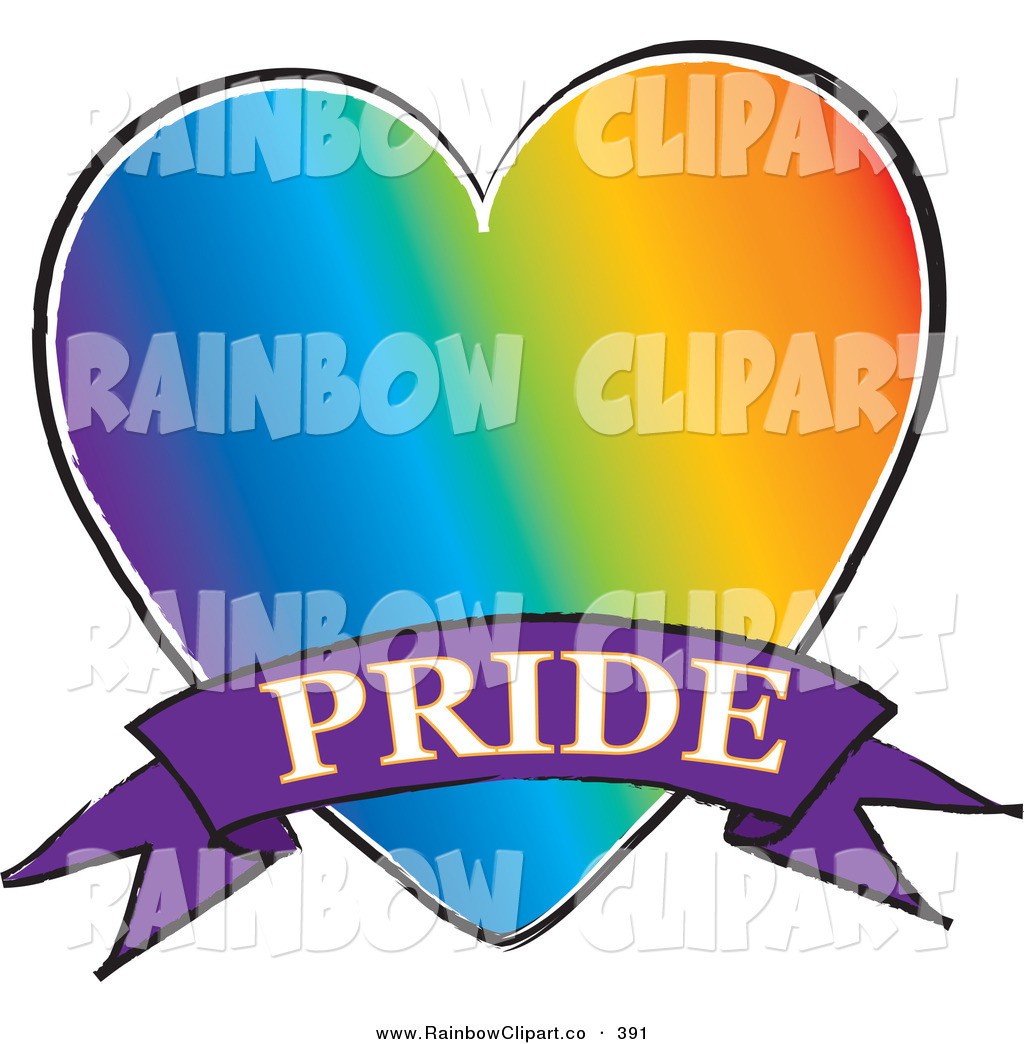 1024x1044 Vector Clip Art Of A Rainbow Gay Heart With A Purple Pride Banner