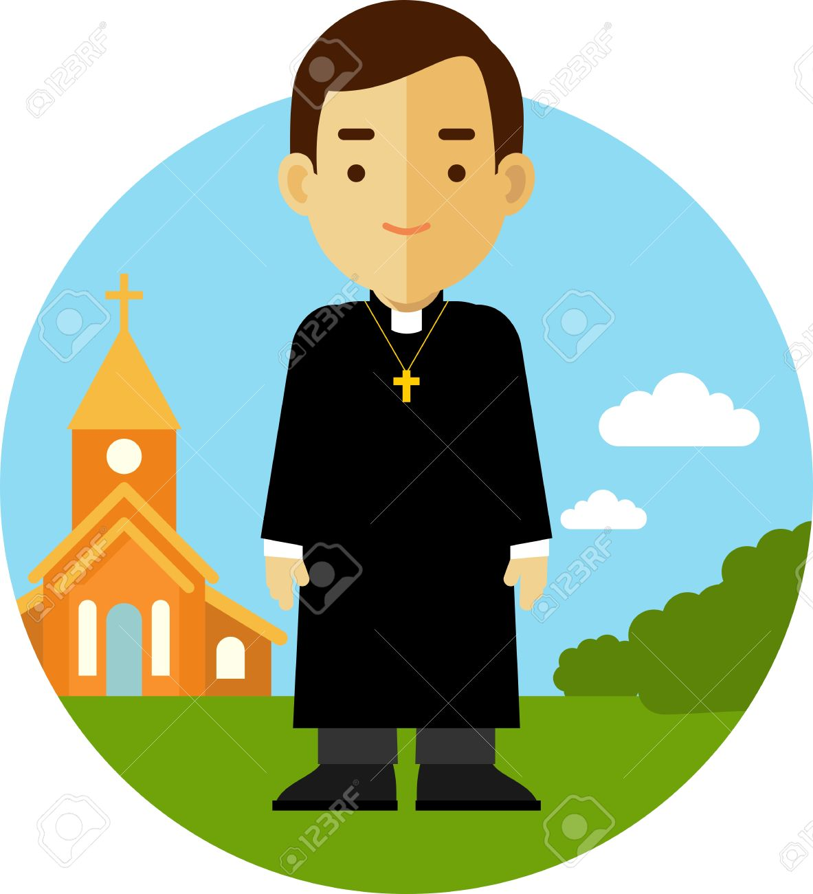 1183x1300 2,189 Catholic Priest Stock Illustrations, Cliparts And Royalty
