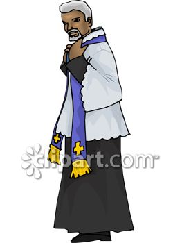 263x350 African American Priest Wearing The Sacraments Clip Art
