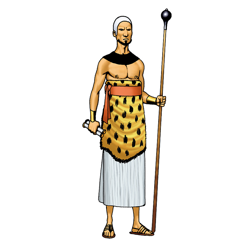 850x850 Ancient Priest Clipart Image
