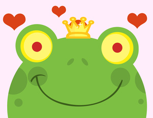 300x231 Frog Prince Clipart Image