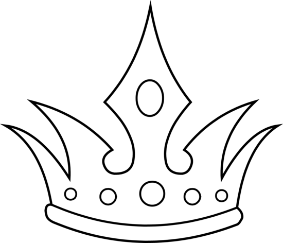 550x472 Pointed Crown Line Art