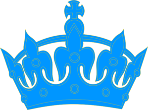 299x222 Blue Crown Clip Art