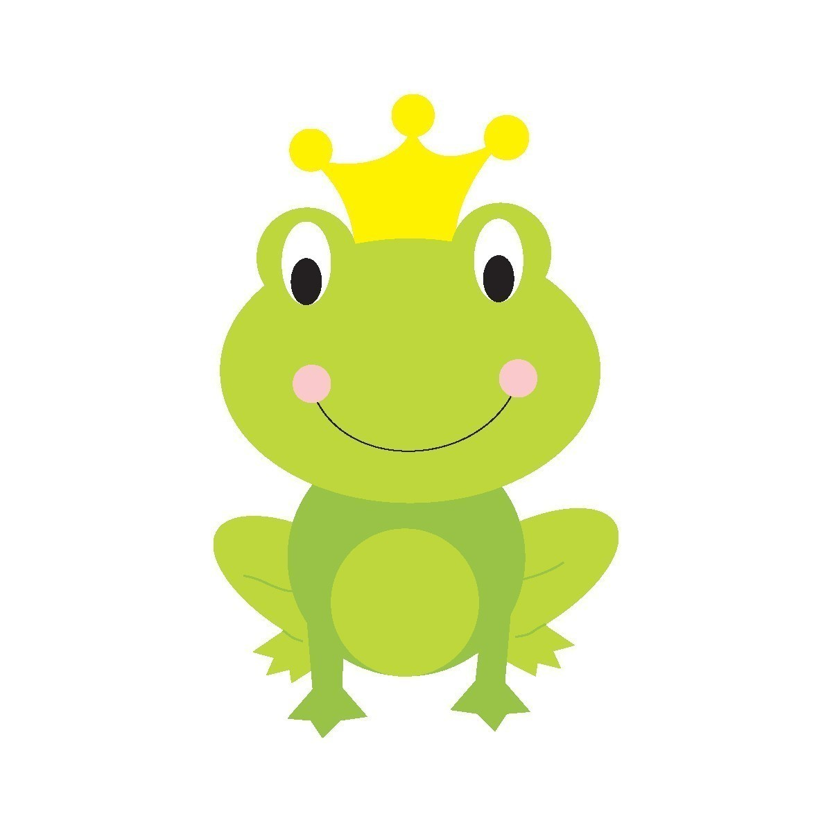 1200x1200 Free Clipart + Frog With Crown