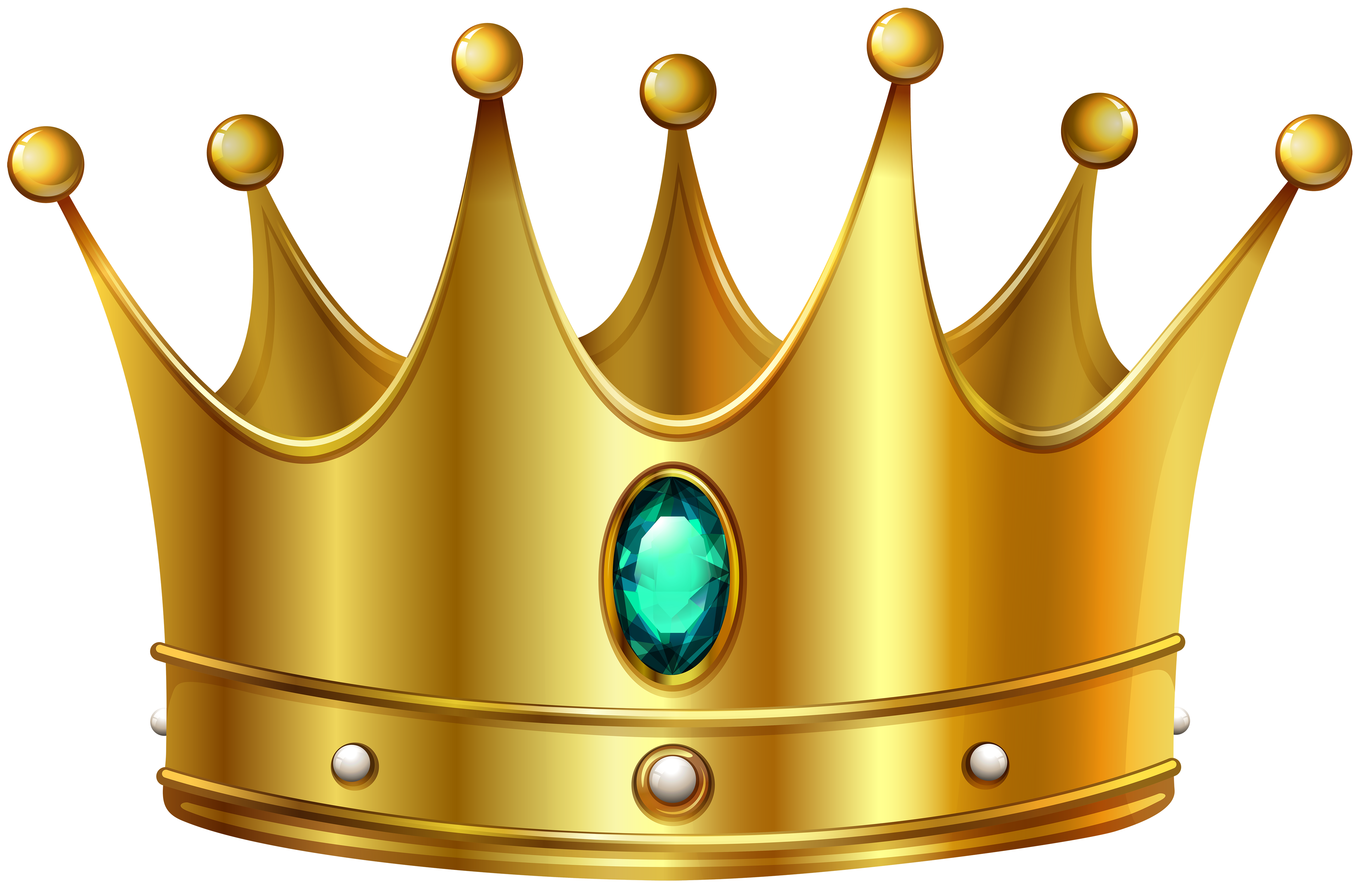 5000x3287 Prince Gold Crown Clipart