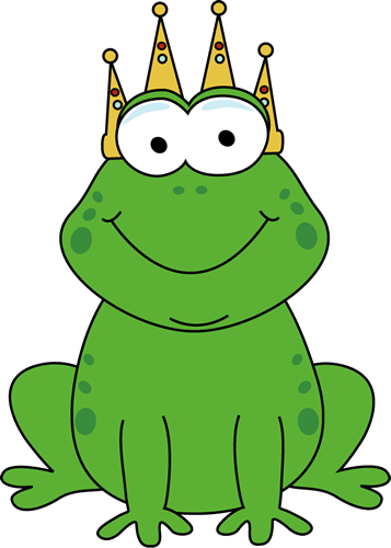 357x500 Clipart Of A Frog With A Crown