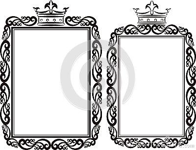 400x307 Crown Frame Clipart