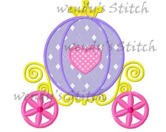340x270 Princess Carriage Applique Design Carriage Princess