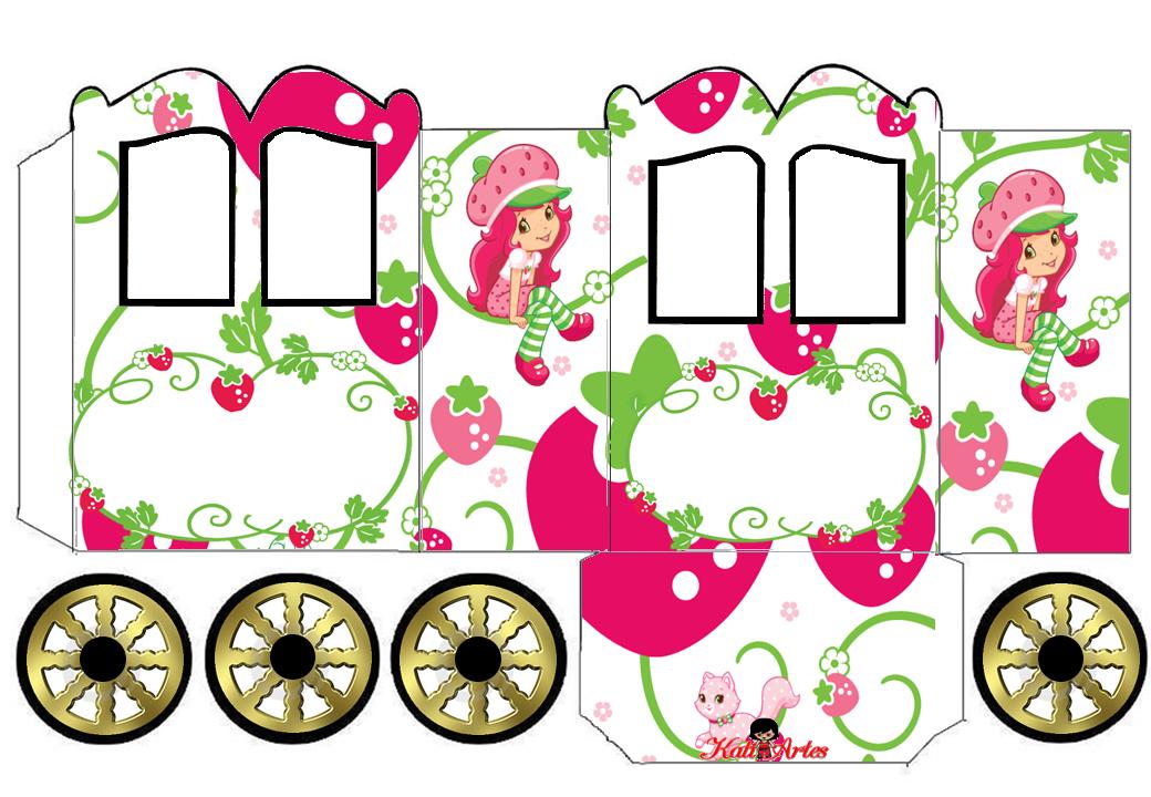 1040x720 Strawberry Shortcake Princess Carriage Shaped Free Printable