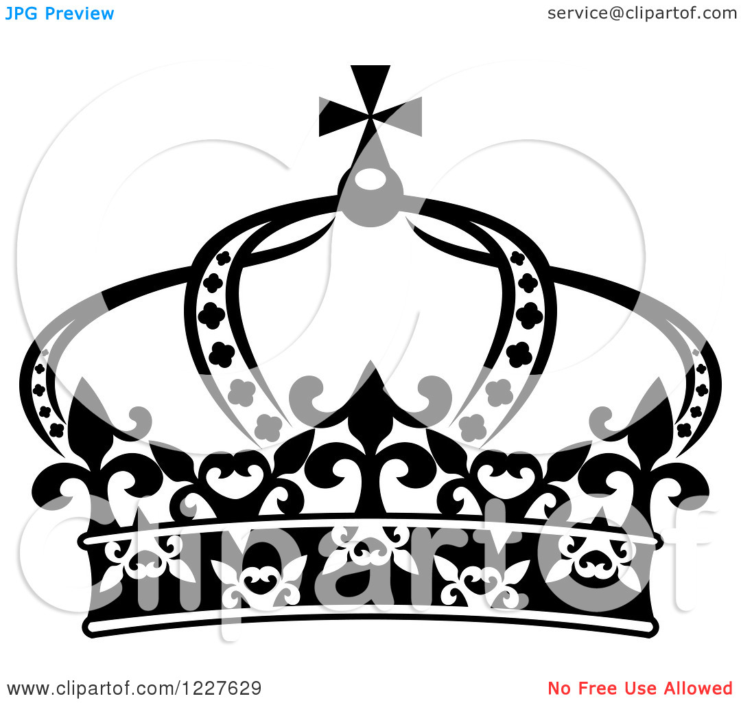 1080x1024 Crown Black And White Clipart