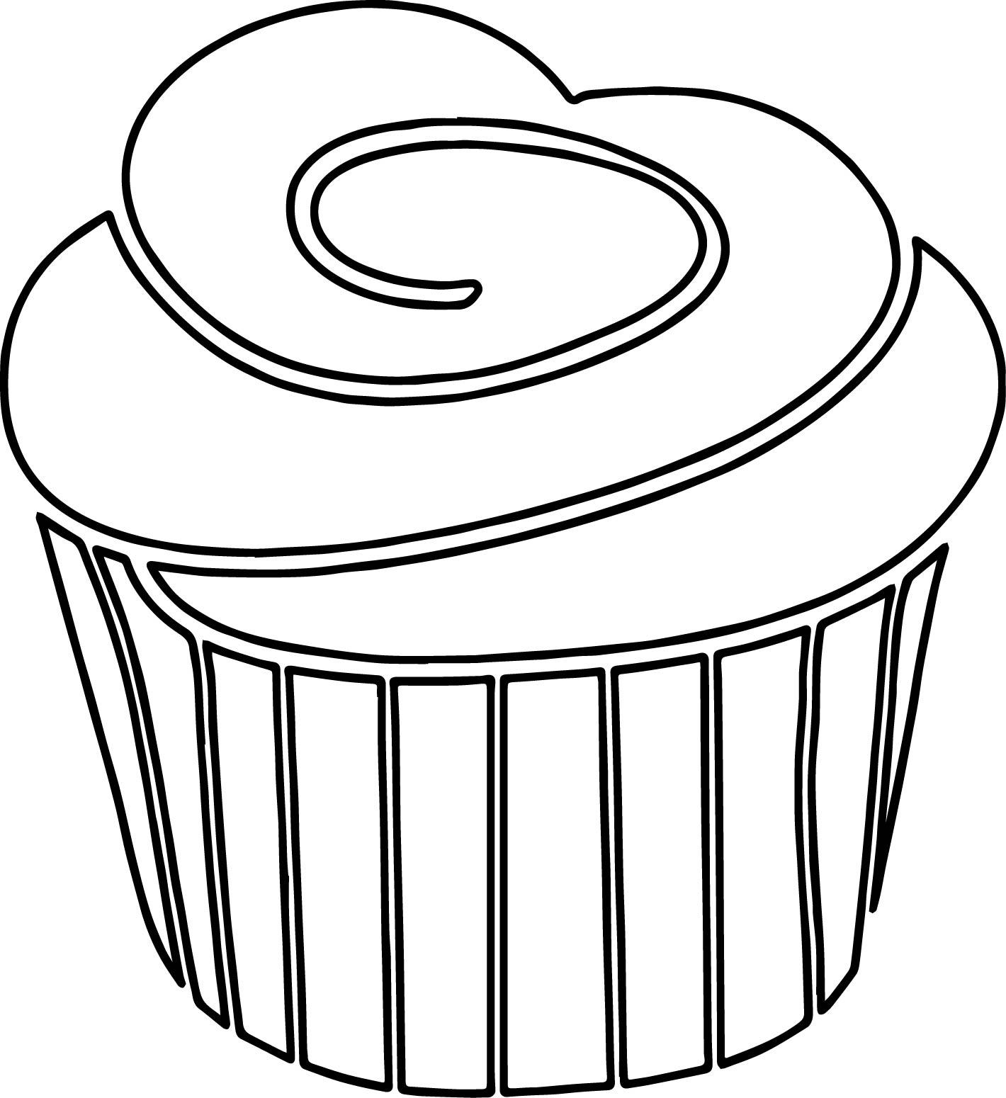 1420x1550 Frosting Clipart Black And White
