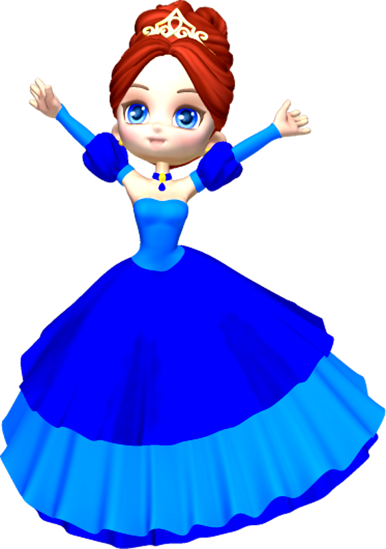 563x800 Princess In Blue Clipart