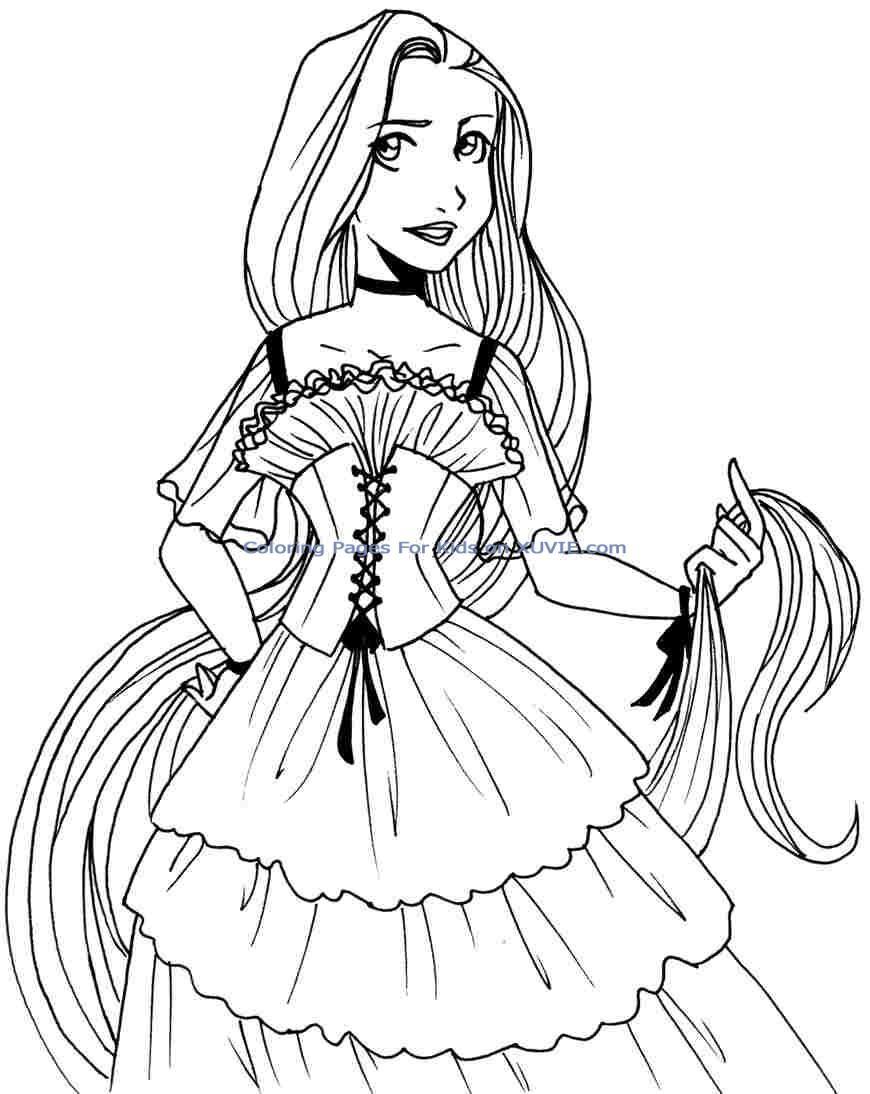 Princess Ariel Printable Coloring Pages | Haramiran | 1094x870