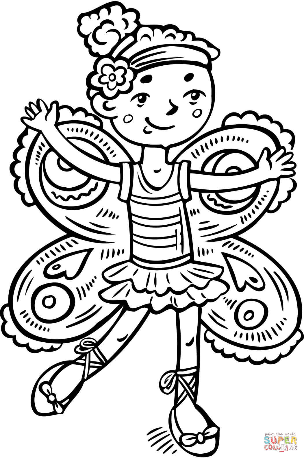 1052x1584 Girl Dressed Up Like A Fairy Princess Coloring Page Free