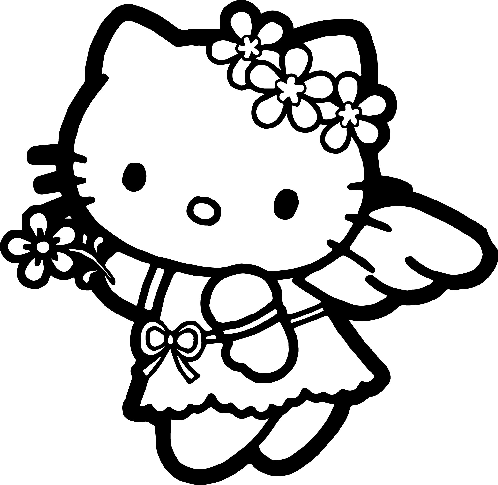 2059x2008 Hello Kitty Coloring Page Wecoloringpage
