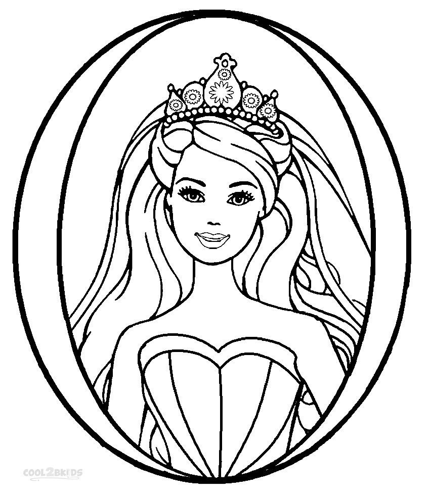 850x994 Printable Barbie Princess Coloring Pages For Kids Cool2bkids