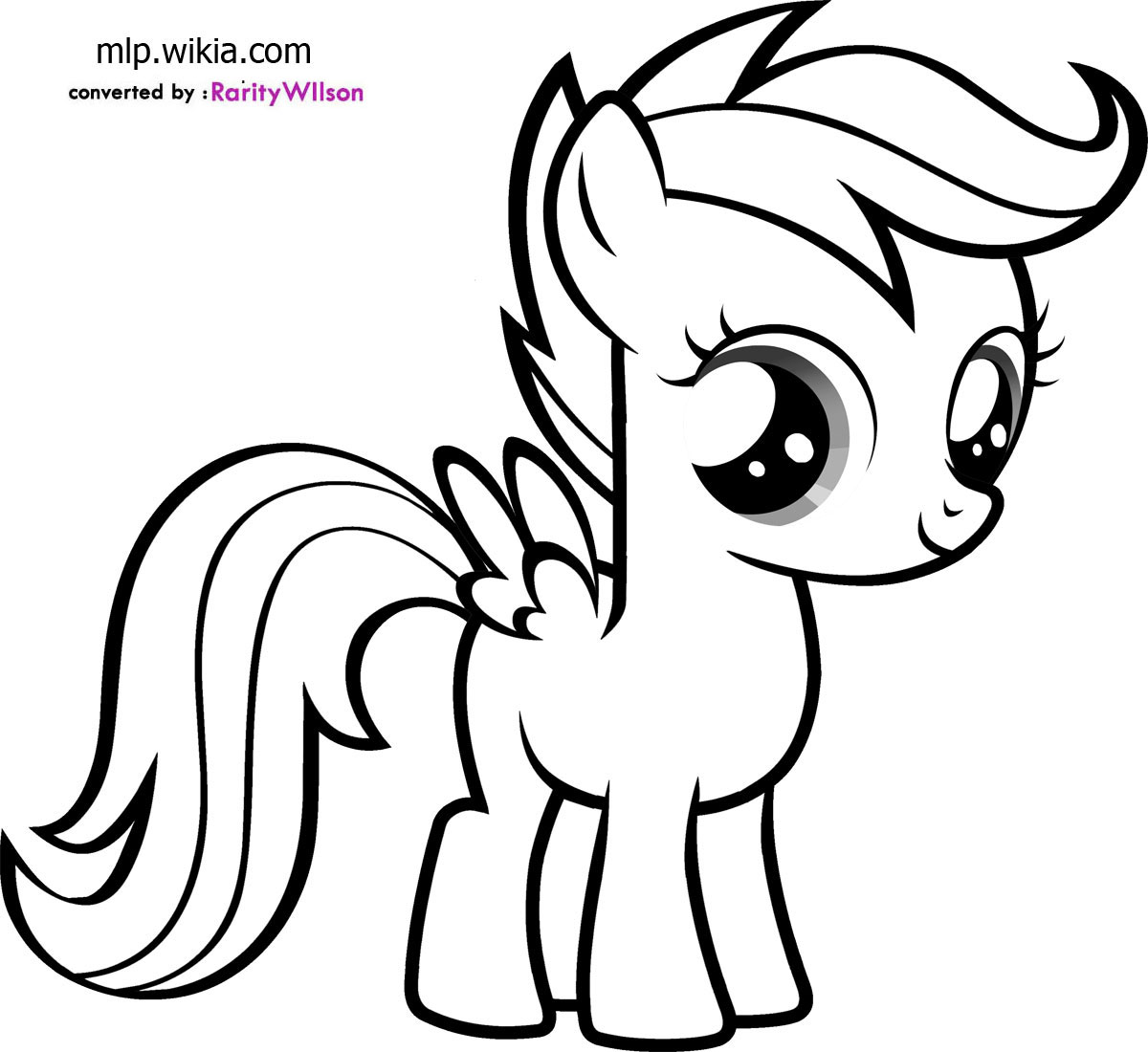 1200x1100 Scootaloo Coloring Pages
