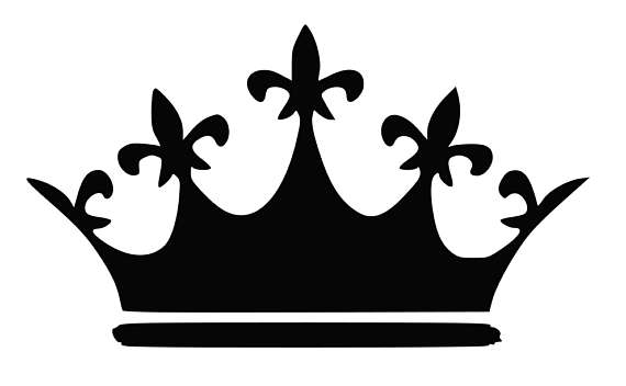 570x352 Crown Svg, Princess Crown Svg, King Crown Svg, Black And Whiite