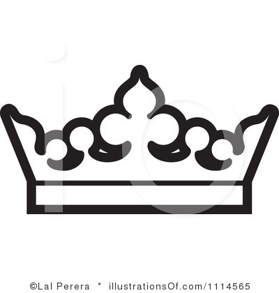 400x420 Free Crown Clipart Black White