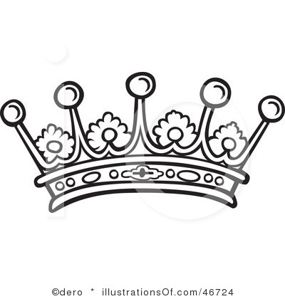 400x420 Princess Crown Clipart Black And White