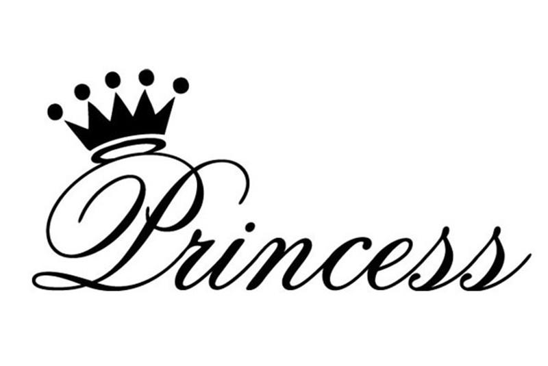 800x535 Princess Crown Vinyl Wall Art Stickers Girl Bedroom Wall Decals