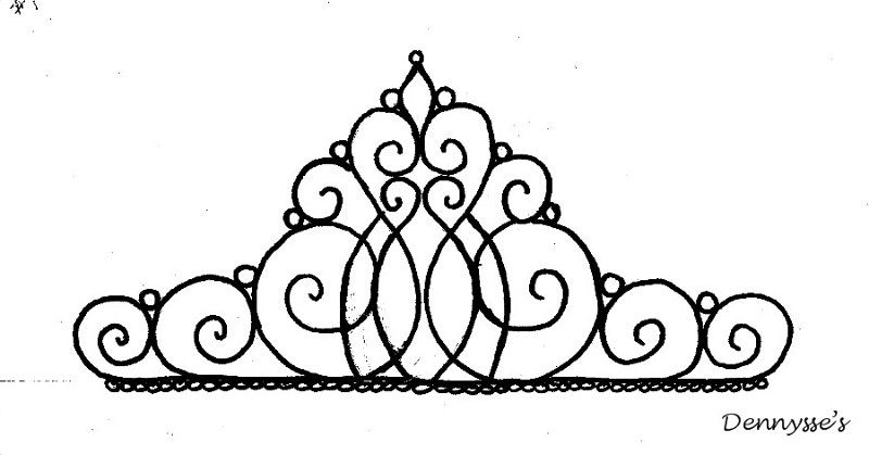 800x419 Tiara Template For Cake Topper Yummy Stuff Piping