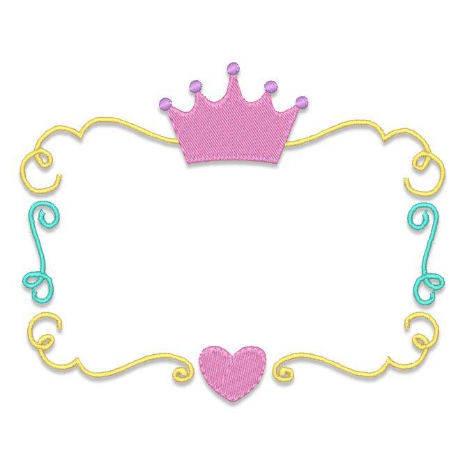 667x667 Design Packages Princess Crown Font Frame