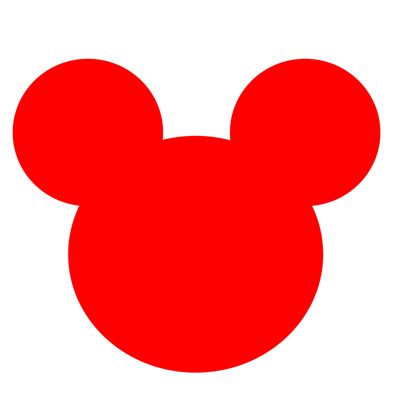 1400x1400 Mickey Mouse Silhouette Clip Art