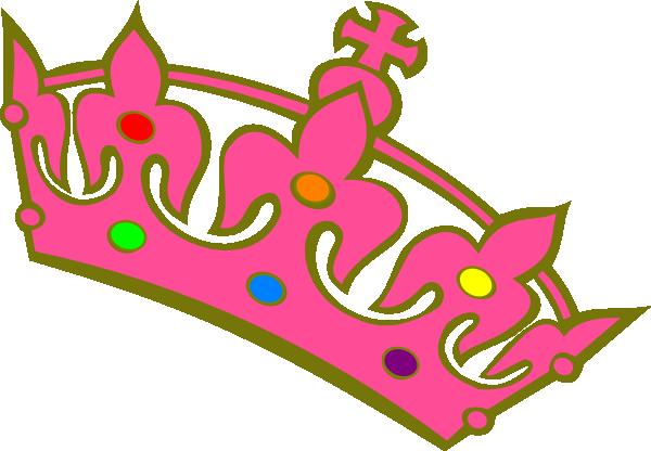 600x416 Rainbow Princess Crown Clipart