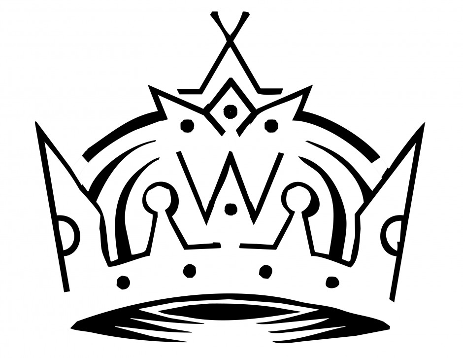940x726 Crown Outline Template
