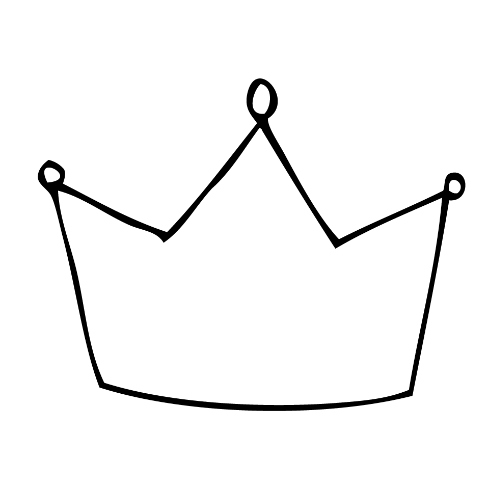 958x958 Crown Clipart Outline Png