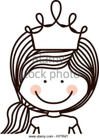 387x540 Princess Crown Icon Outline Illustration Stock Photos Amp Princess