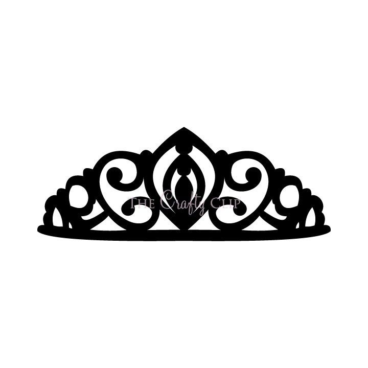 720x720 Princess Crown Clipart Black And White