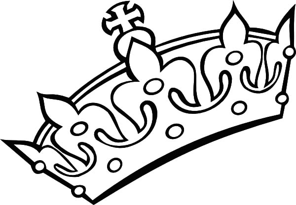 600x416 Crown Coloring Page