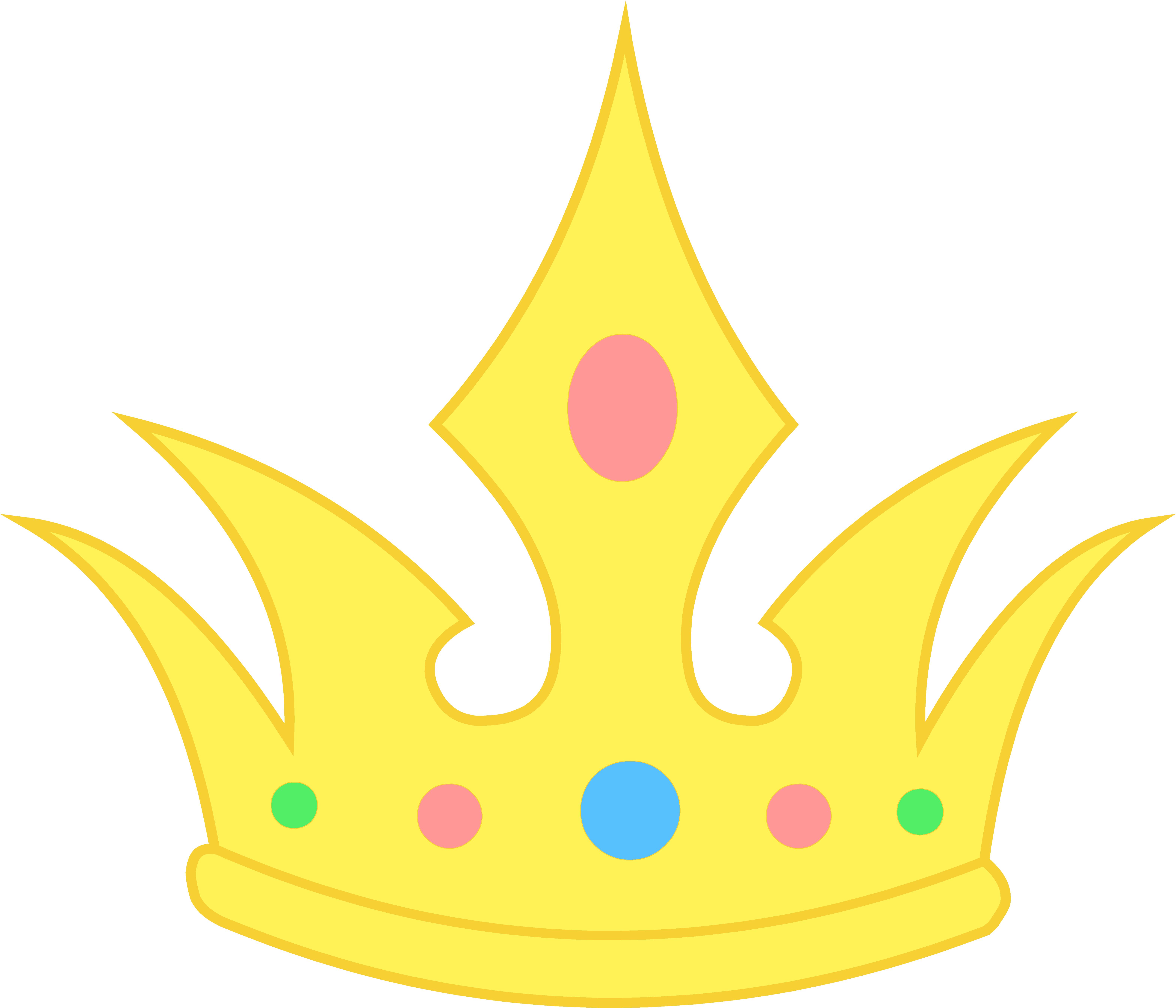 6278x5384 Pastel Clipart Princess Crown