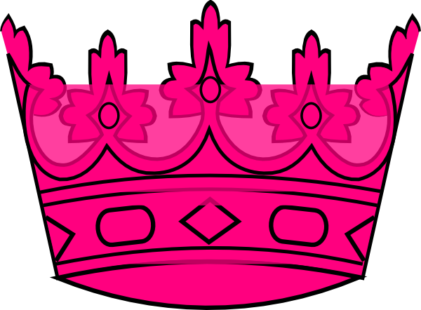 600x442 Pink Crown Clip Art