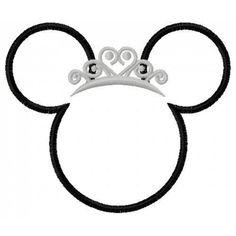 236x236 Princess Mickey Head Clip Art