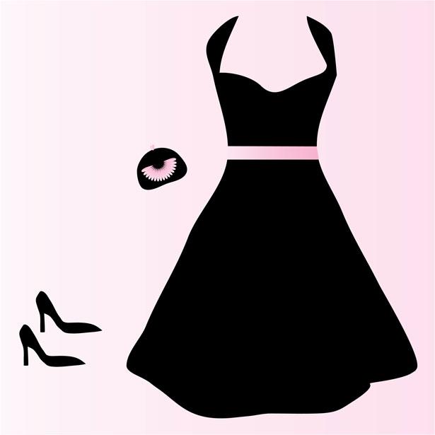 615x615 Black Dress Clipart Princess Dress