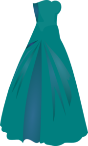 180x297 Green Dress Princess Clip Art